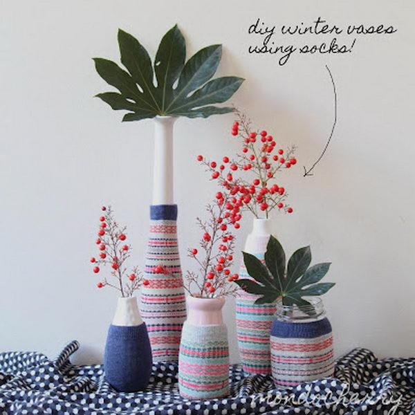 stylish sock sleeves vases 53