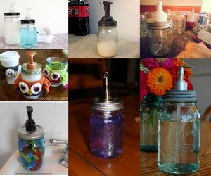 mason jar dispenser collage