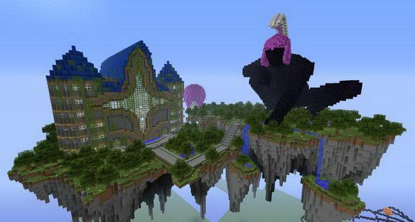 Castle Floating in Sky