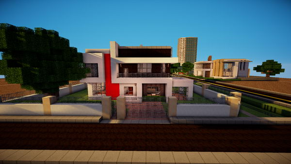 50 cool minecraft house designs hative for Minecraft modern house 7x7