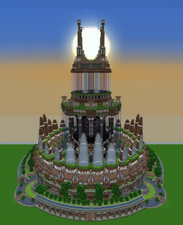 ornamented tower - Minecraft Home Designs
