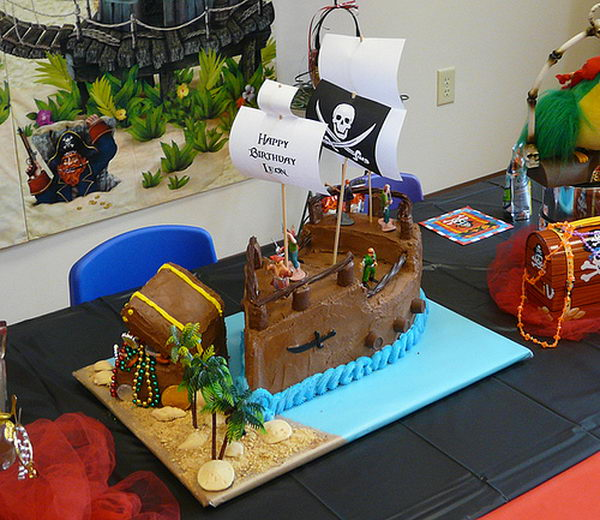 pirate ship cake 16