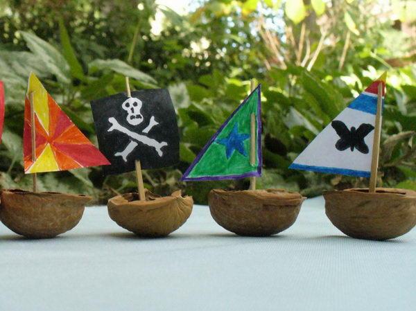 walnut shell flotilla idea 30