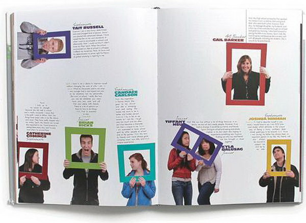 yearbook profile ideas 13 - Yearbook Design Ideas