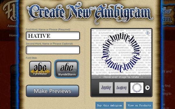 Flip Script Tattoo Maker.html | Autos Post  Ambigram Free Creator