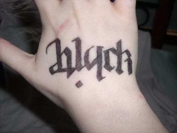 black white on hand 33