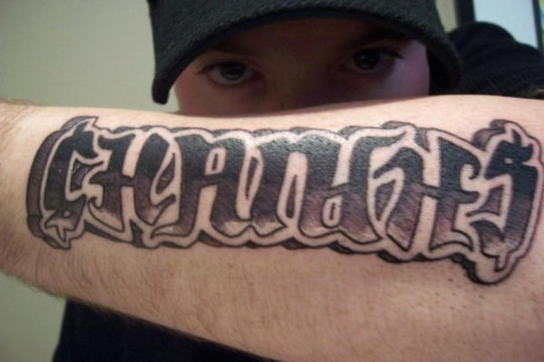 changes ambigram on arm 36
