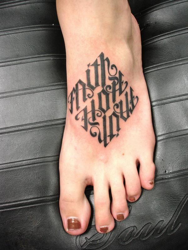 40 cool ambigram tattoo ideas hative for Faith hope love tattoo meaning