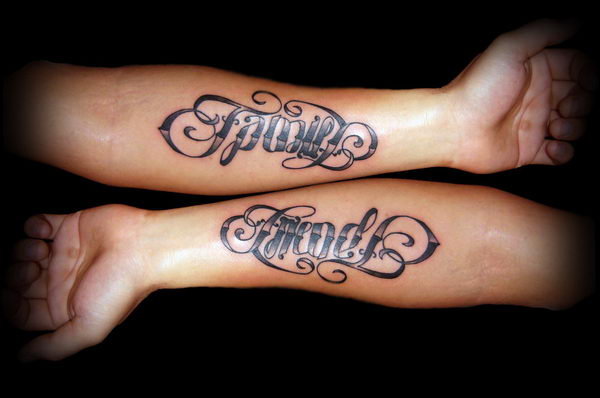 40 cool ambigram tattoo ideas hative for Tattoos for best friends with meaning