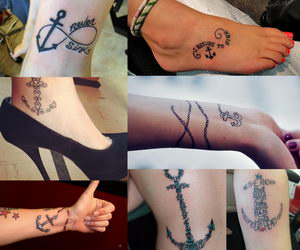 anchor tattoos collage