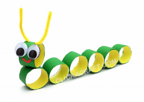 19 caterpillar kid craft