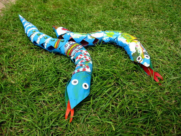20 snakes kid craft