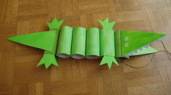 36 crocodile paper roll crafts