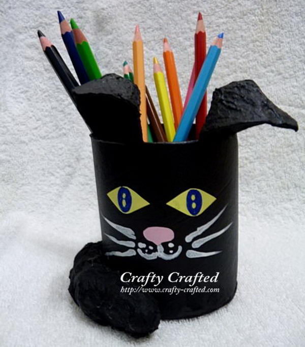 59 homemade cat pencil holder