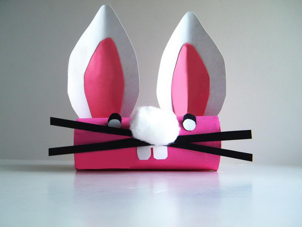 Rabbit Toilet Paper Roll Craft