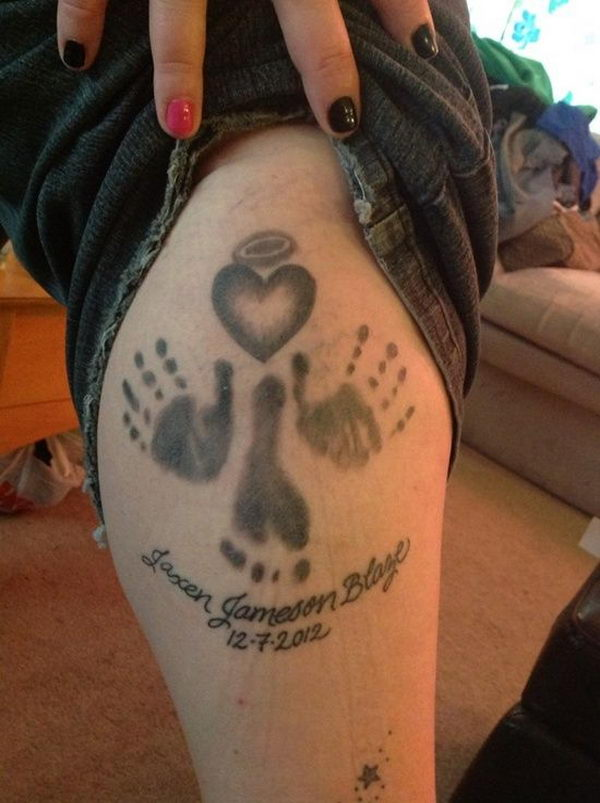 30 Cute Baby Footprint Tattoos Hative