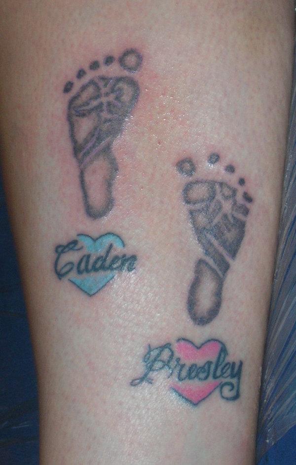 Foot Print Tattoo 82