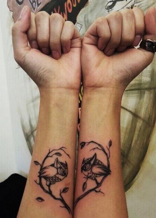 40 creative best friend tattoos hative for Matching tattoos for couples in love