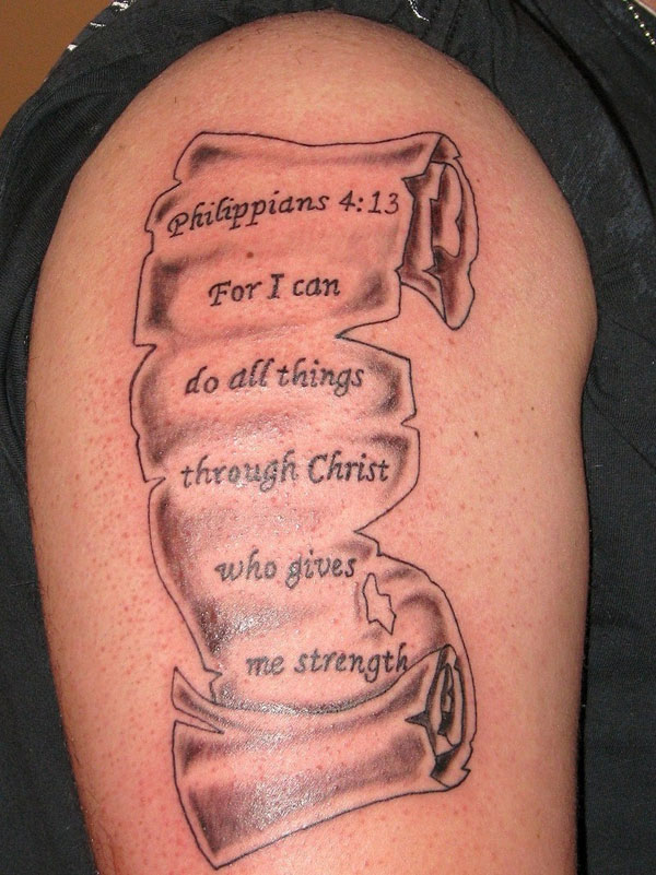 30 cool bible verse tattoo design ideas with meanings for Bible verse tattoos on arm