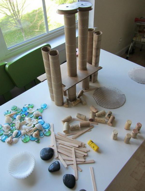 4 toilet paper roll tower
