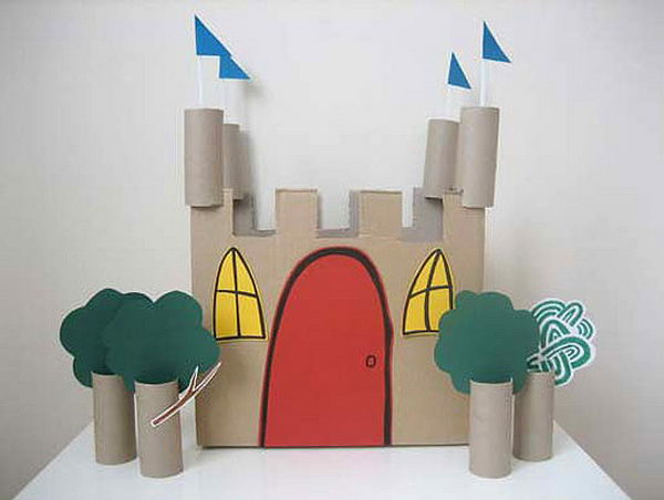 6 toilet paper roll castle