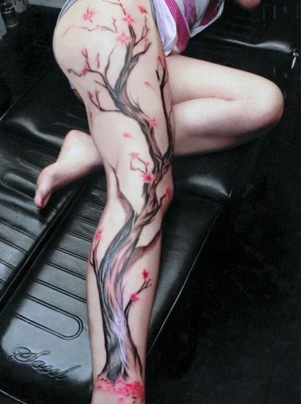 24 cherry blossom tree on leg