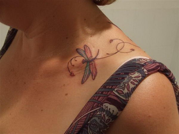 dragonfly on collarbone 17