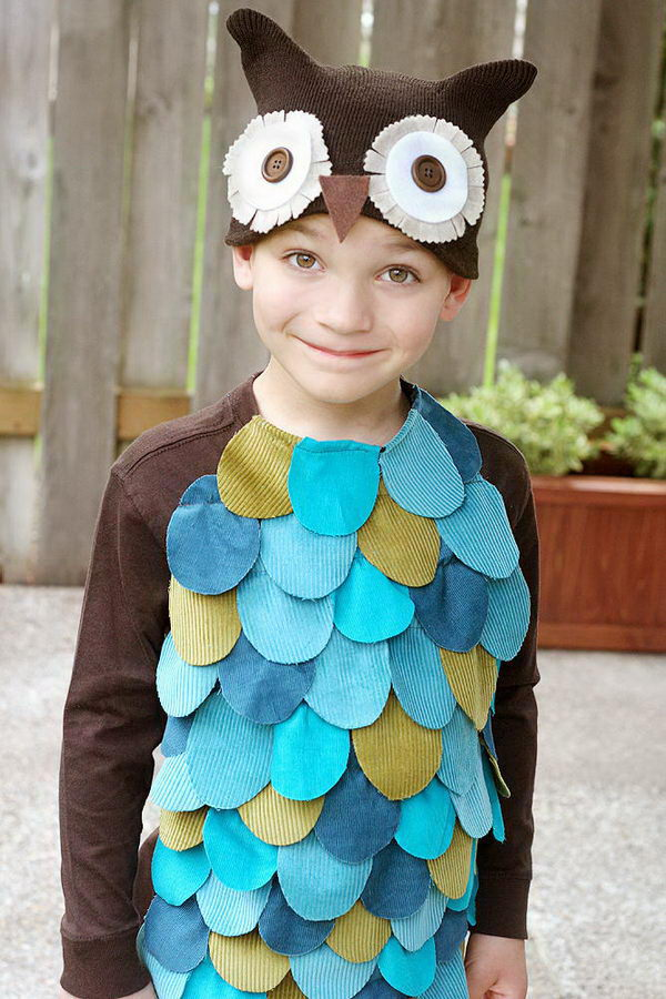 18 owl kid costume idea