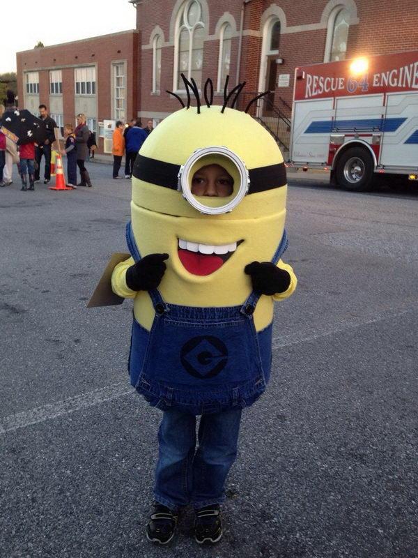29 minion kid costume idea