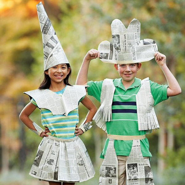 3 newspaper fashion costume