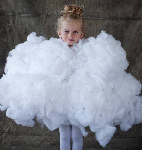34 fluffy white cloud costume