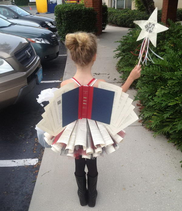 4 book fairy costume for girl