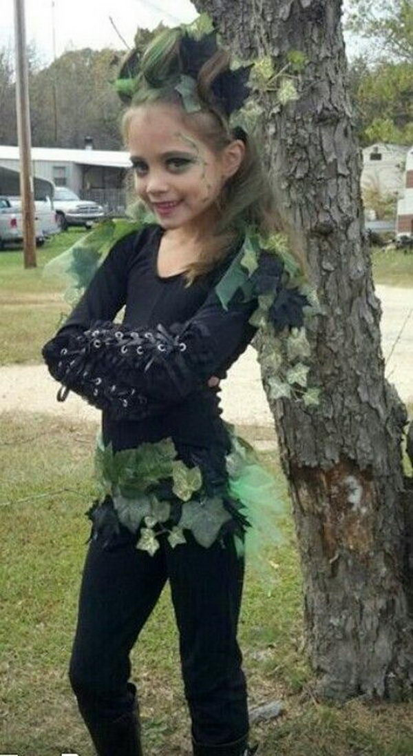 54 poison ivy costume little girl