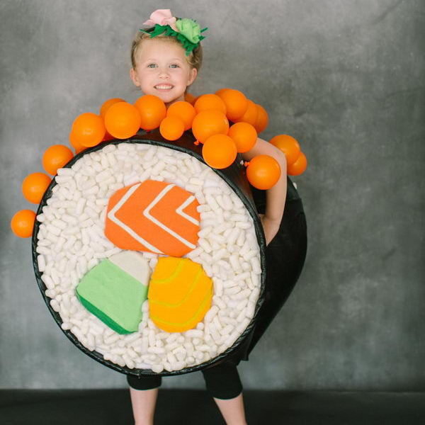55 sushi roll kid costume idea