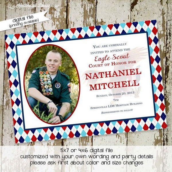 10 Cool Eagle Scout Invitations Hative – Eagle Scout Invitation Cards