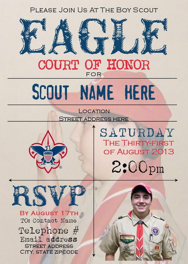 10 Cool Eagle Scout Invitations