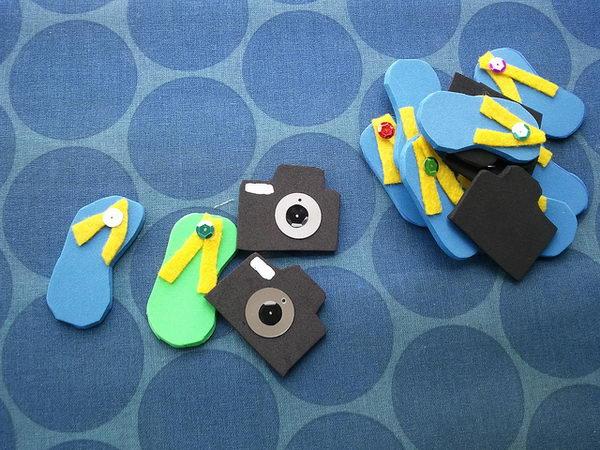 18 flip flops and cameras