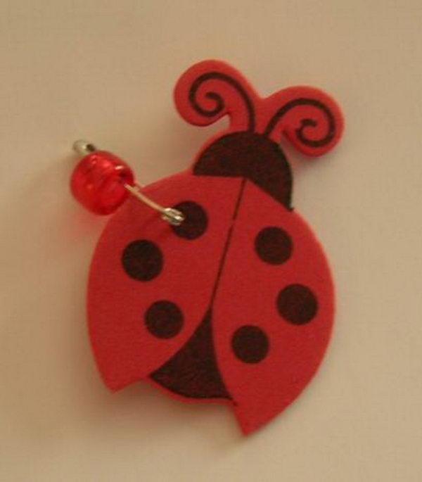 26 foam ladybug girl scout swaps