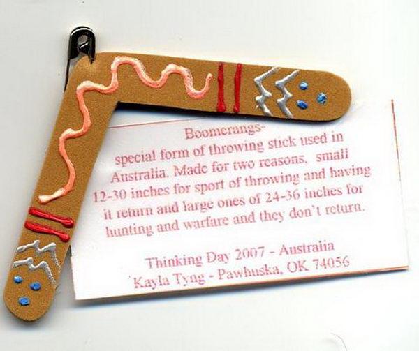 31 boomerang girl scout swaps