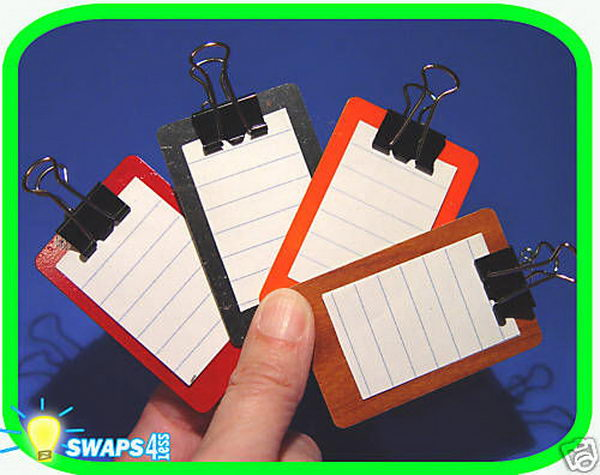 6 mini clipboard girl scout swaps