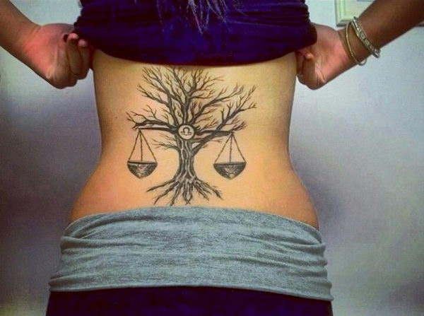 11 libra and tree back