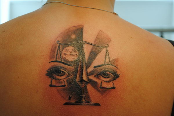21 lady judgment tattoo