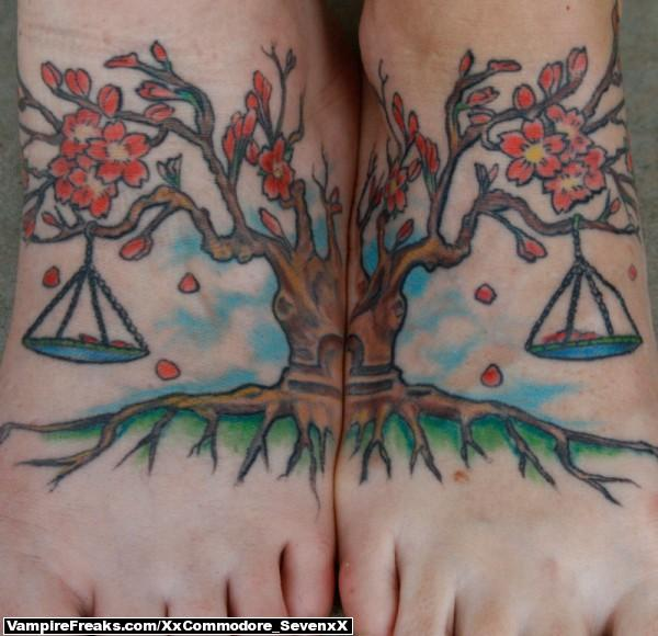 8 libra scale on foot