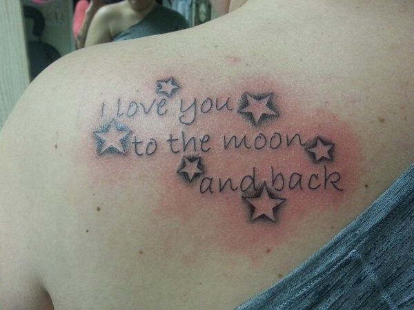 edfe5904e18df 20+ I Love You to The Moon and Back Tattoo Ideas - Hative