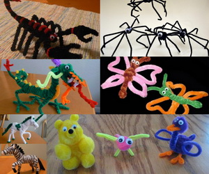 pipe-cleaner-animals-collage
