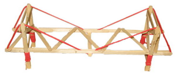 3 simple suspension popsicle bridge
