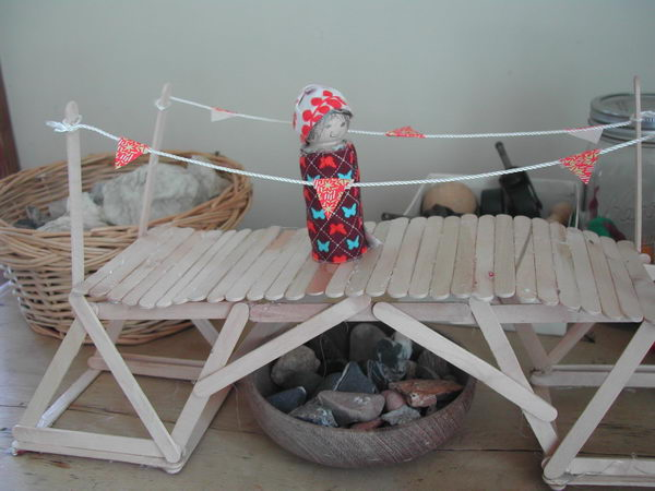 5 popsicle stick bridge craft