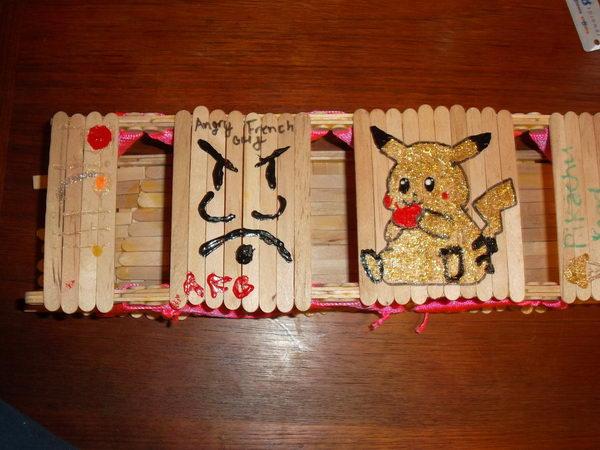 6 popsicle stick bridge art