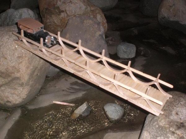 Popsicle Stick Suspension Bridges The