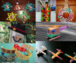 popsicle stick crafts collage data pin